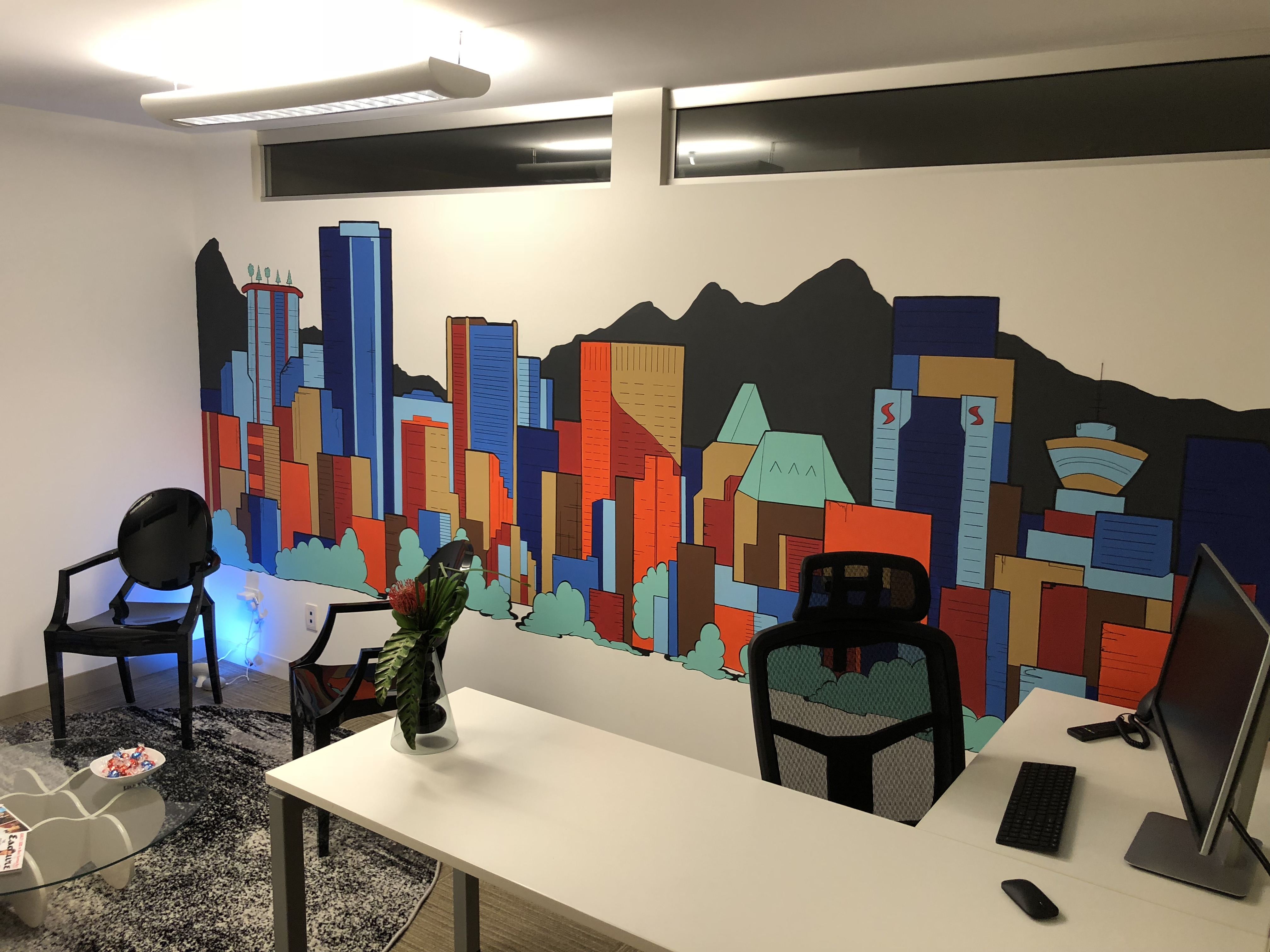 Office wall mural